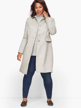 Brushed Wool Coat