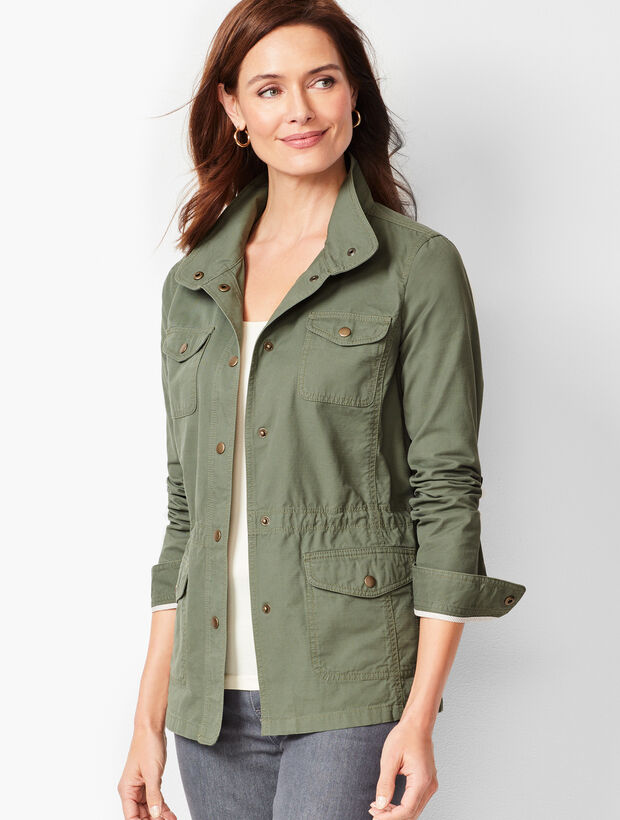 Casual Drawcord Jacket - Solid