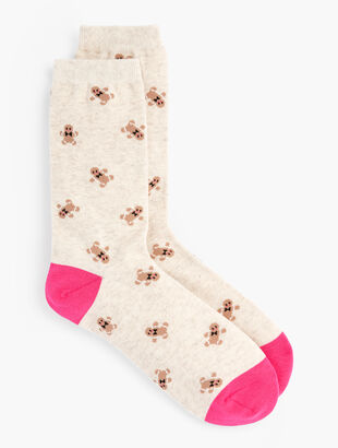 Gingerbread Man Trouser Socks