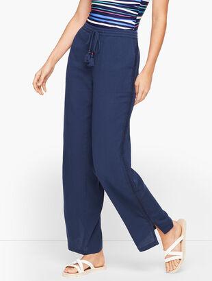 Crinkle Cotton Beach Pants