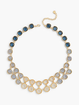 Crackled Glass Statement Necklace