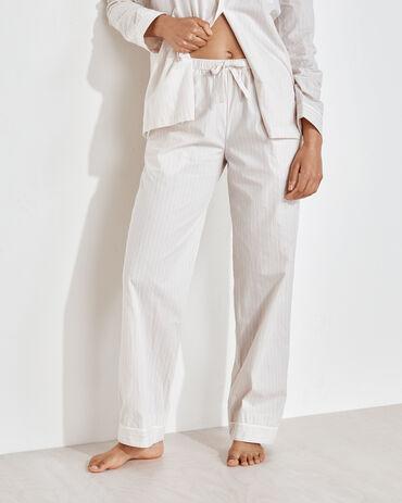 Organic True Cotton Tonal Striped Drawstring Pants