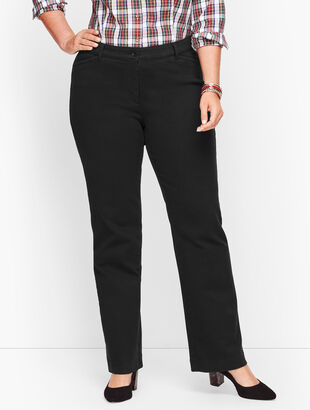 Wide Leg Jeans - Never Fade Black