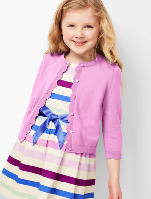 Girls Scallop Charming Cardigan