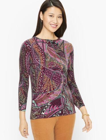 Audrey Cashmere Sweater - Autumn Paisley