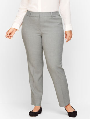 Plus Size Talbots Hampshire Ankle Pants - Heathered Double Crepe