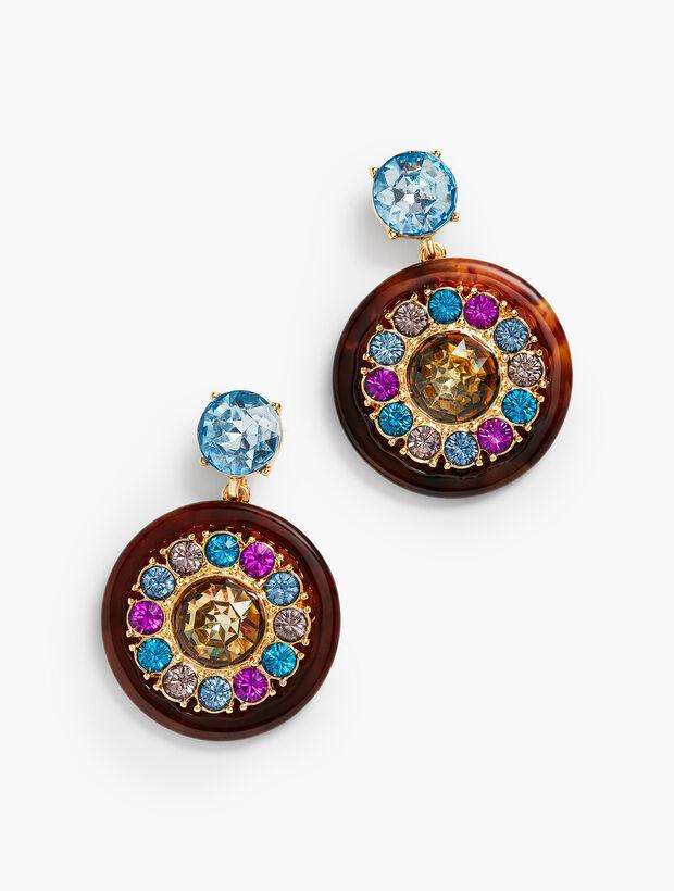 Sparkly Tortoise Earrings