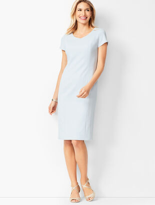 Italian Luxe Double-Cloth Sheath Dress