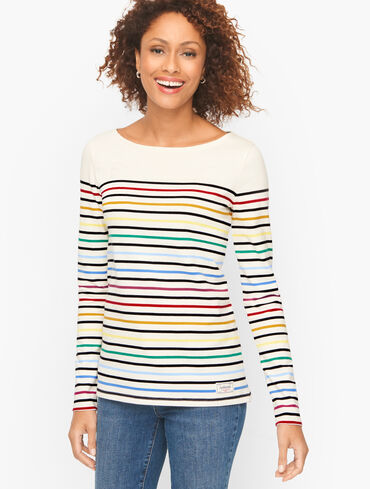 Authentic Talbots Tee - Perry Stripe
