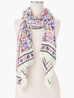 Watercolor Paisley Oblong Scarf