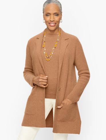 Ribbed Cashmere Sweater Jacket