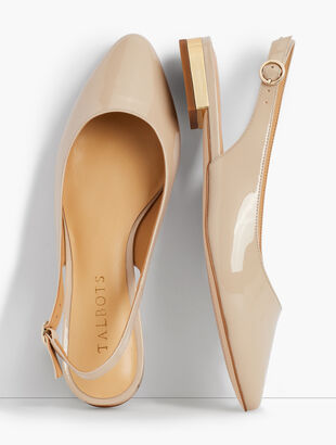 Edison Slingback Flats - Patent Leather