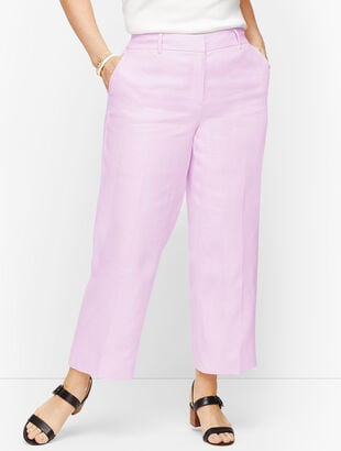 Linen Straight Leg Crop - Twill