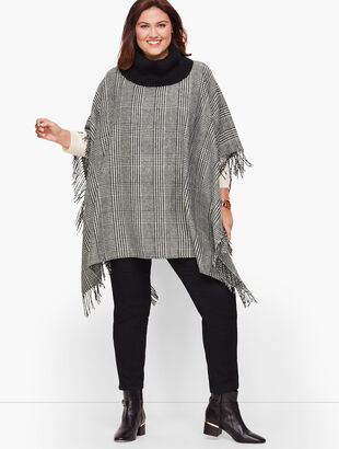 Plus Size Fringed Poncho