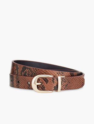 Reversible Exotic Leather Belt