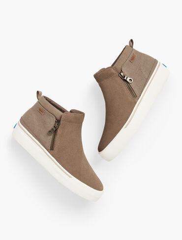Keds® Cooper Zip Suede Canvas Sneakers