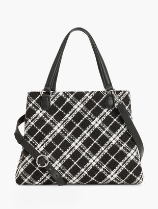 Plaid Tweed Satchel