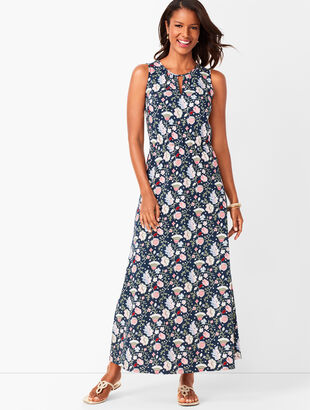 Floral Keyhole Maxi Dress