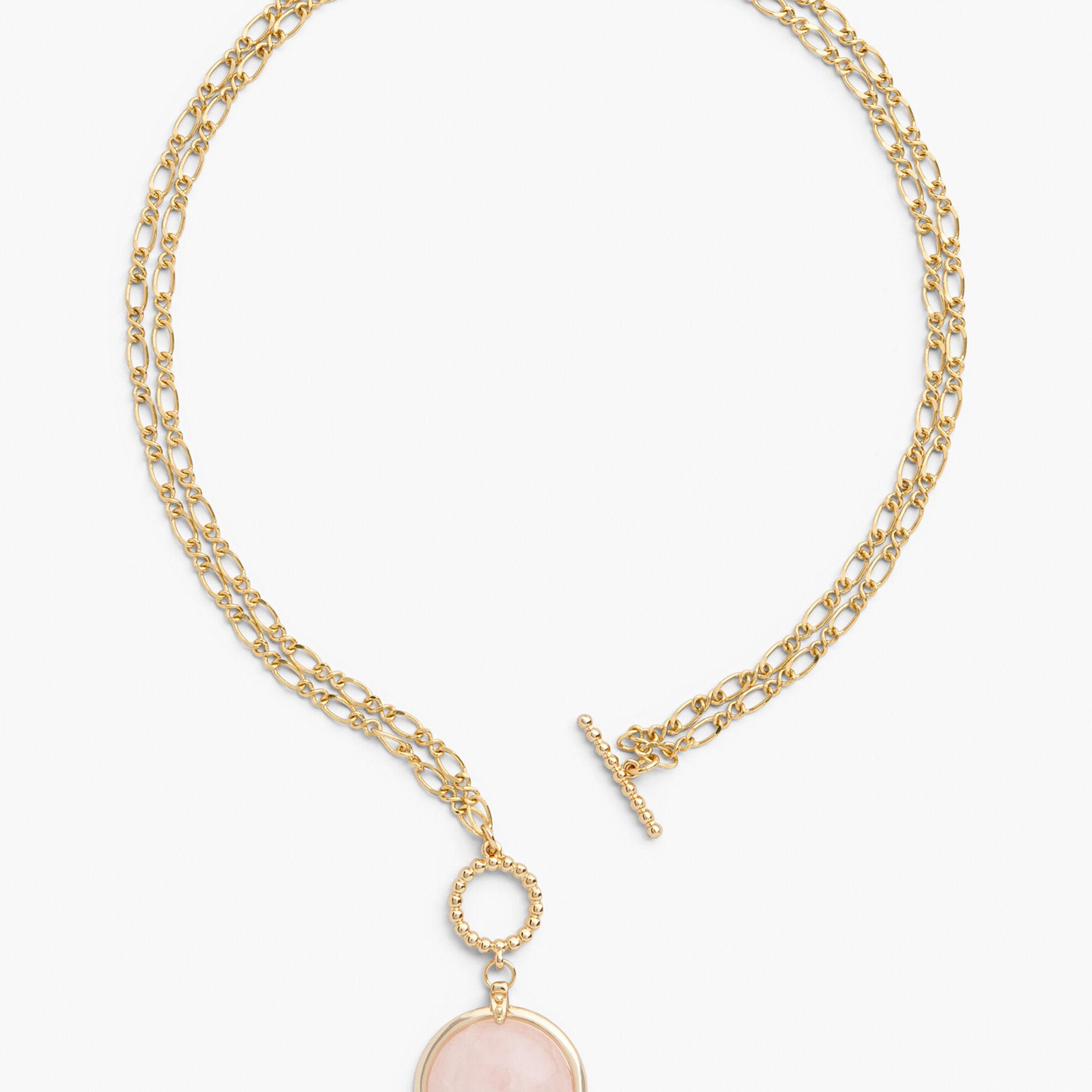 f08c72189b5ec9 Rose Quartz Pendant Necklace - Image Of Necklace