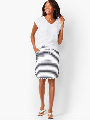 Stripe Loop-Terry Beach Skirt