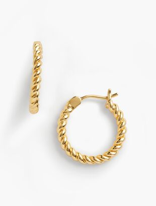Rope Earrings - 14K Gold-Plated Sterling Silver