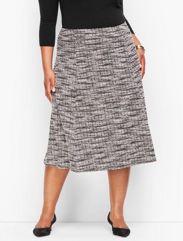 Knit Tweed Skirt