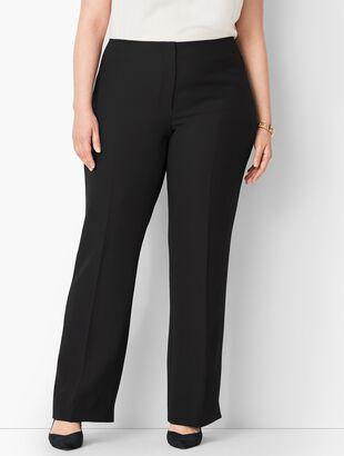 Plus Size Seasonless Crepe Wide-Leg Pants