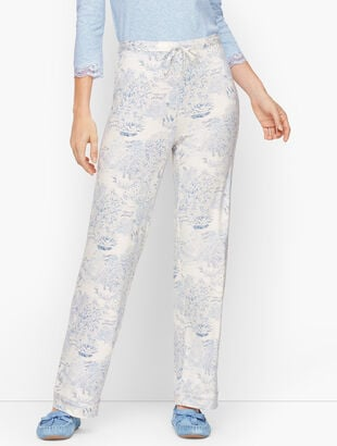 Jersey Sleep Pants - Toile Print