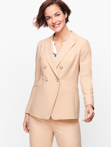 Luxe Italian Double Weave Collection - Double Breasted Blazer