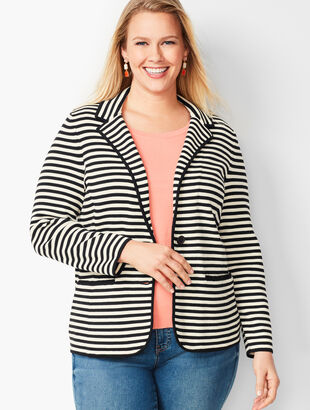 Stripe Sweater Blazer