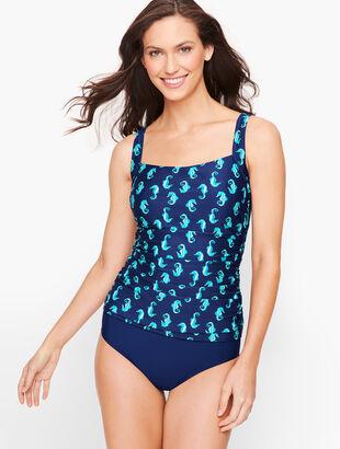 Miraclesuit® Cabana Tankini Top - Seahorse Print