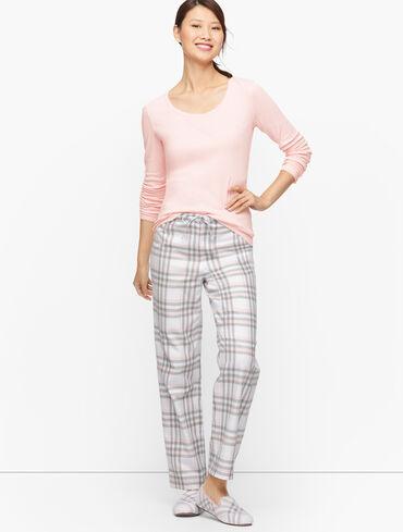 Woven Flannel Sleep Set - Soft Plaid