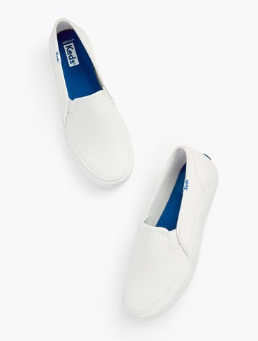 Keds® Double Decker Slip-On Sneakers - Leather