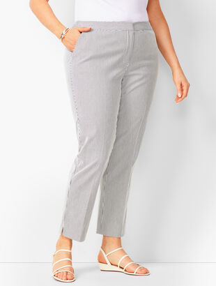 Plus Size Talbots Hampshire Ankle Pants - Stripe