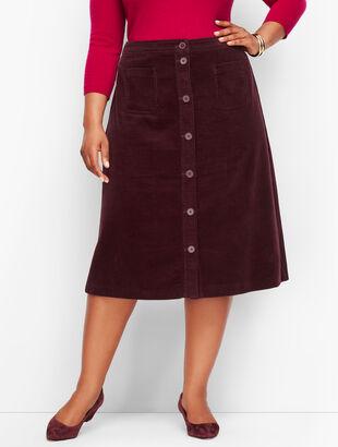 Wide Wale Corduroy A-Line Skirt