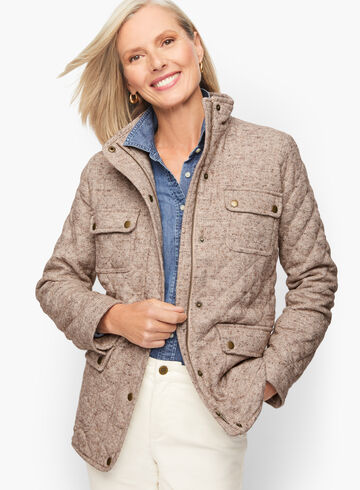 Quilted Wool Donegal Jacket