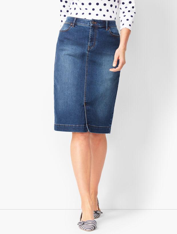 Denim Pencil Skirt