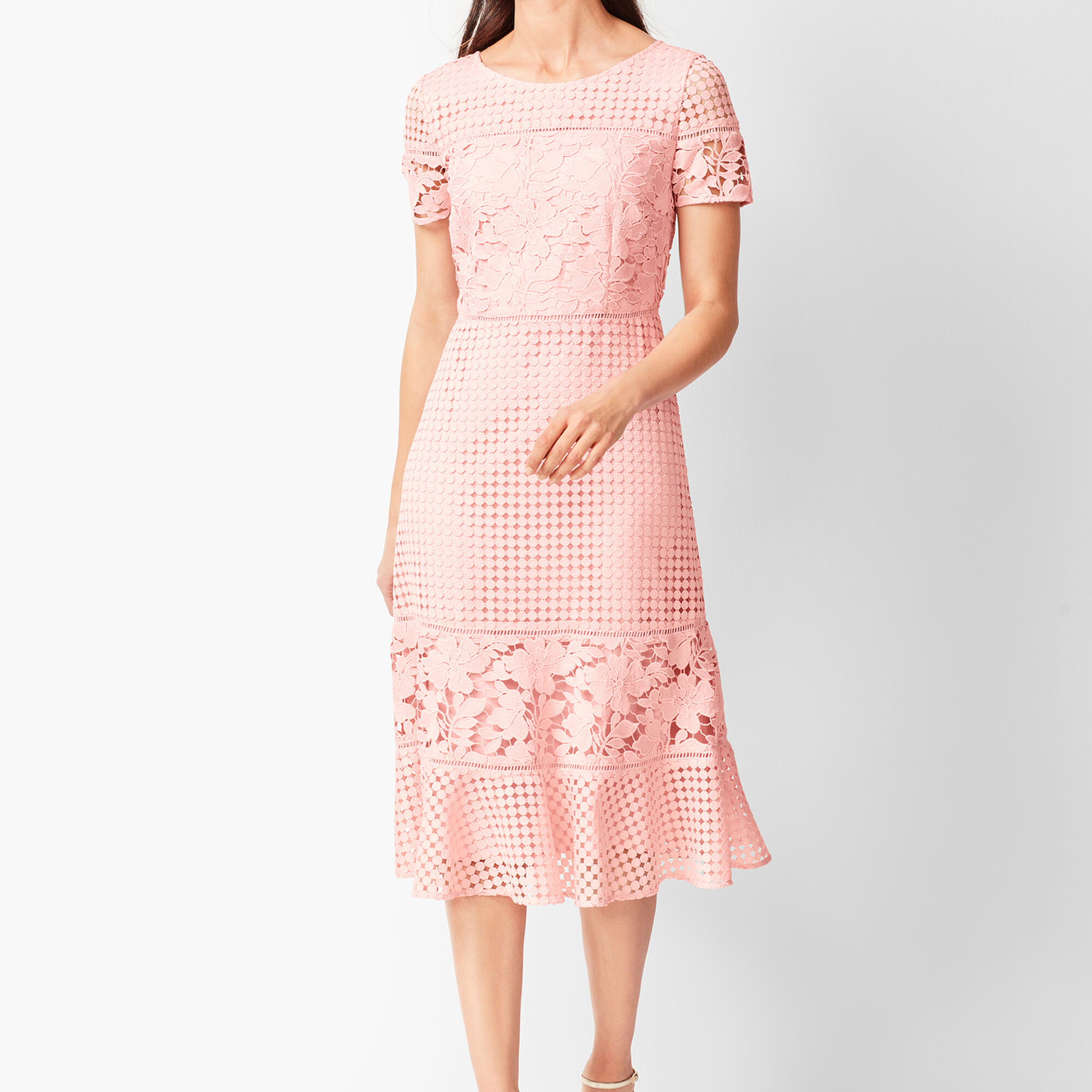 b825f415f30 Mixed-Lace Fit & Flare Dress Opens a New Window.