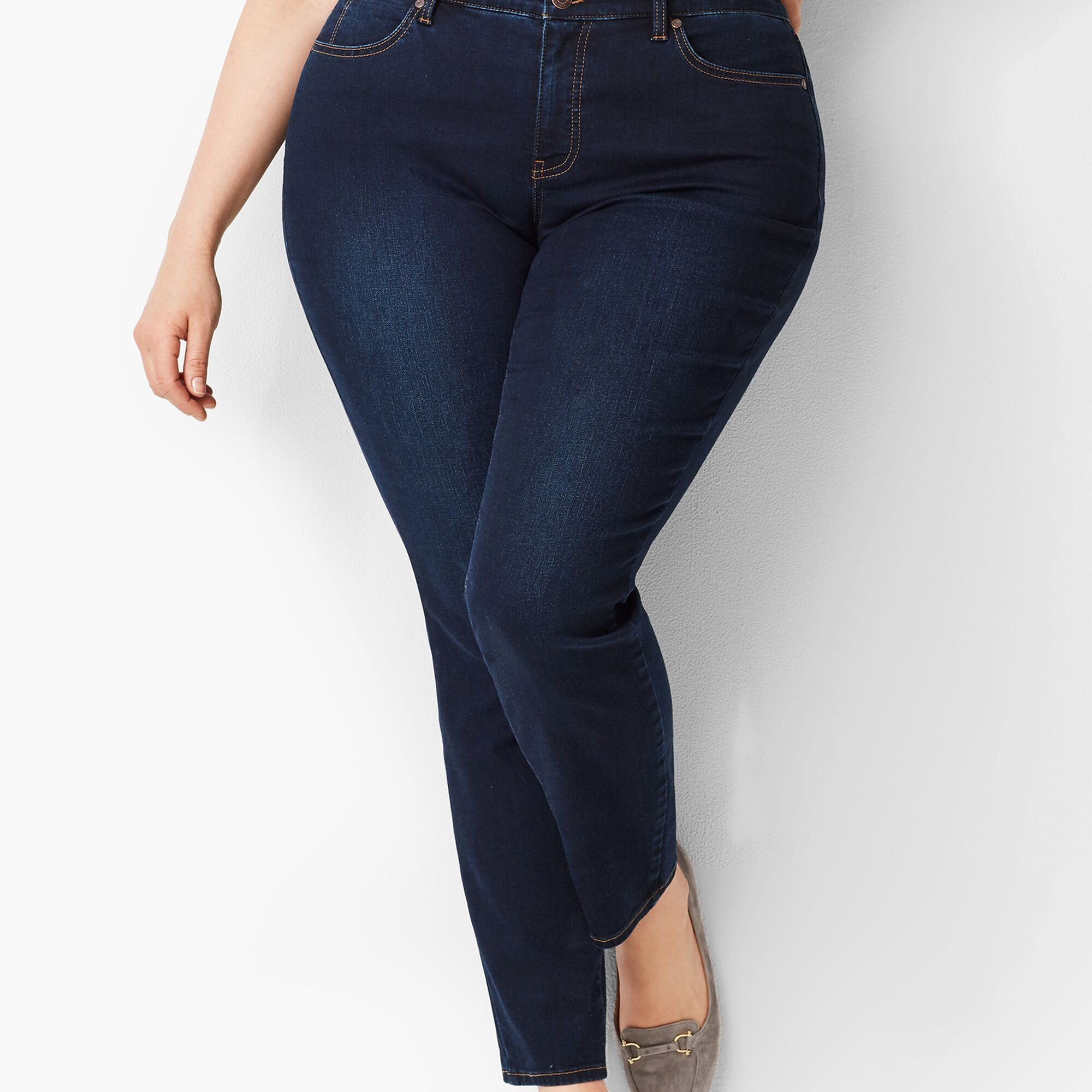 9fa848fbbb6 Plus Size Exclusive Slim Ankle Jeans - Curvy Fit Indy Wash Opens a New  Window.