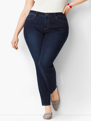 Plus Size Exclusive Slim Ankle Jeans - Curvy Fit/Indy Wash