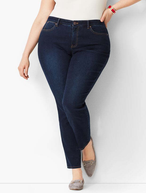 Plus Size Exclusive Slim Ankle Jeans - Curvy Fit/Indy Wash