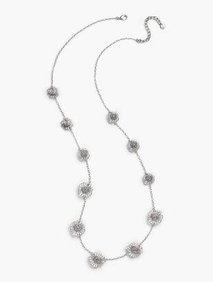 Filigree Petal Layering Necklace
