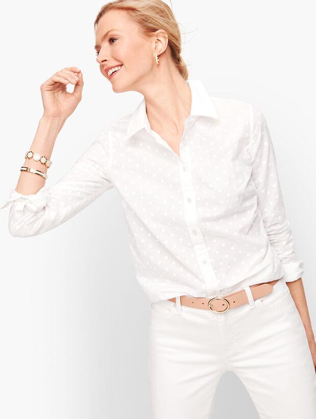 Classic Cotton Shirt Floral Dot Talbots