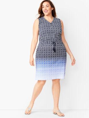 Ombré Geo-Print Dress