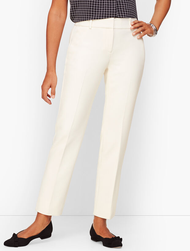 Talbots Hampshire Ankle Pants - Curvy Fit - Lined Ivory