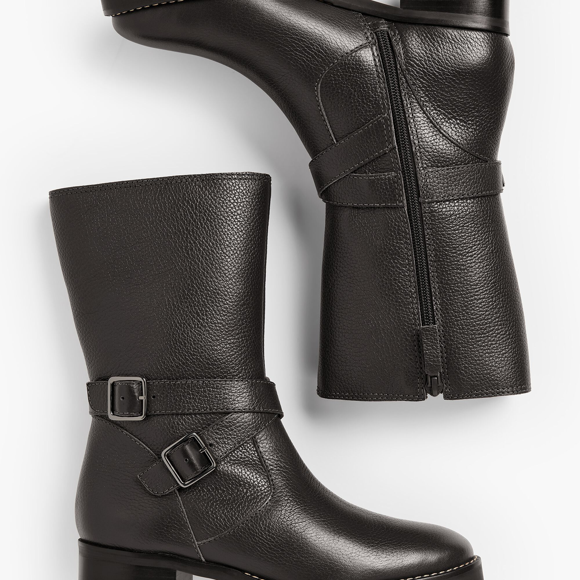 9ec3f99bc61 Tish Double-Strap Leather Boots