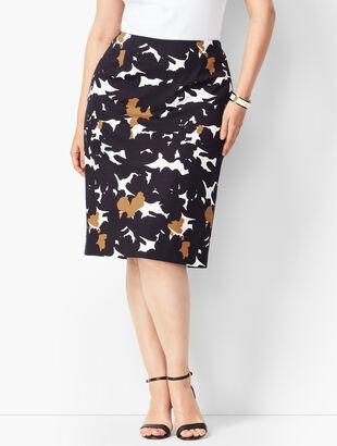 Refined Ponte Pencil Skirt - Floral