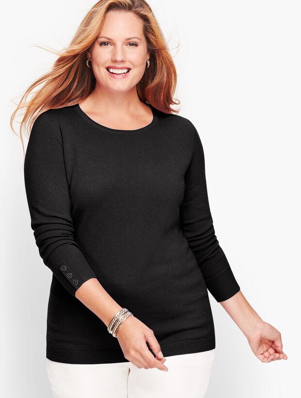Cashmere Button Cuff Sweater