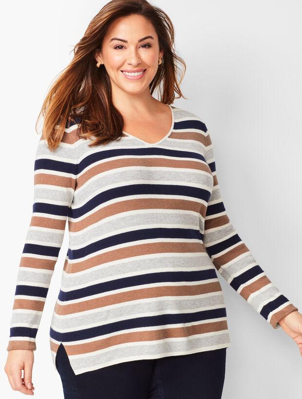 V-Neck Sweater - Stripe