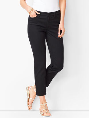 Denim Straight Crops - Black